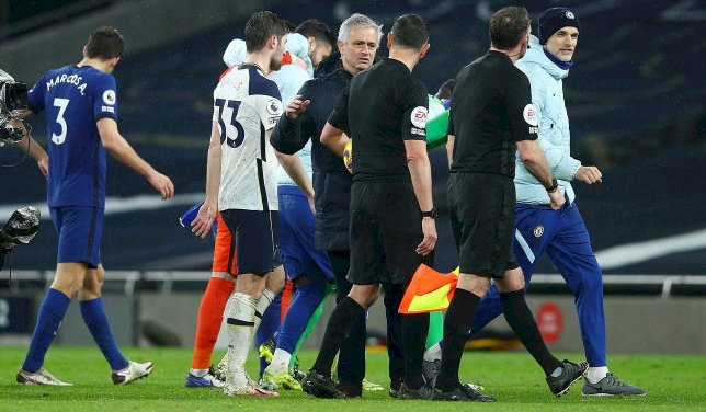 Mourinho Dissatisfied With Referee Marriner's Performance In Spurs' Defeat To Chelsea