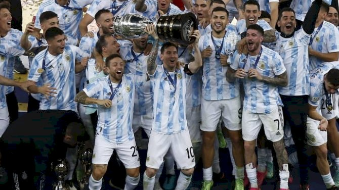 Messi Ends International Trophy Hoodoo As Di Maria Strike Wins Copa America Against Brazil